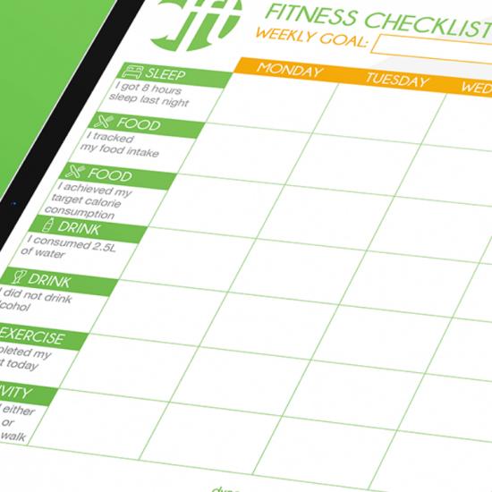 Free Fitness Checklist Dynamic Fitness Training