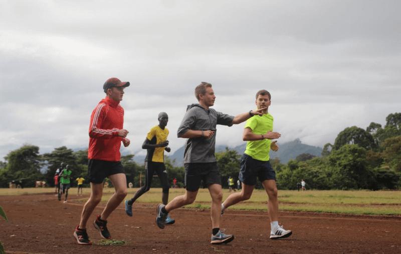 Darren O'Toole running in Kenya