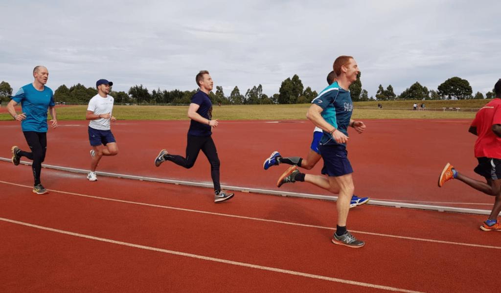 Track running in Iten, Kenya