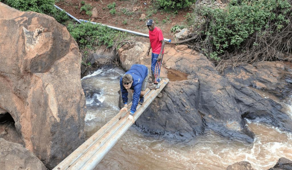 Hiking to waterfalls Kenya