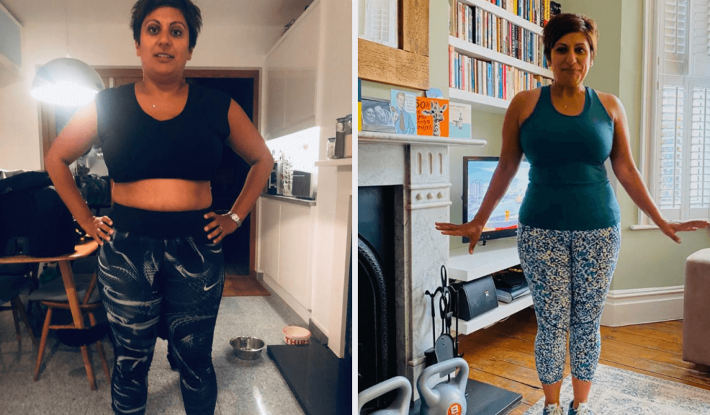 Dynamic Fitness Training client Ammara before after